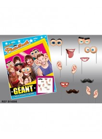 photo boothx12 assortis en carton GEANT