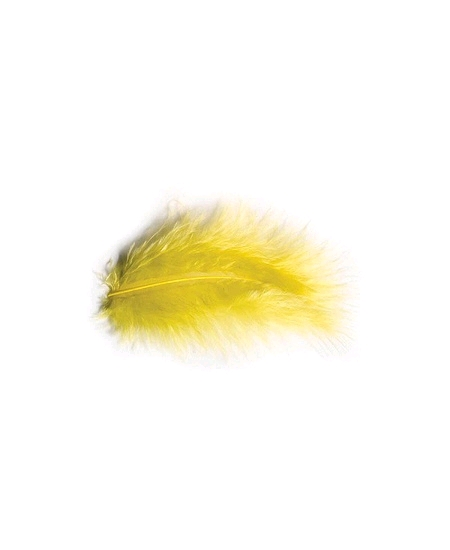 plumes jaune vif 5-10cm/10grs