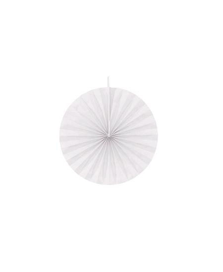 éventailx4/ D40cm blanc en papier