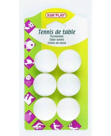 balles ping pongx6