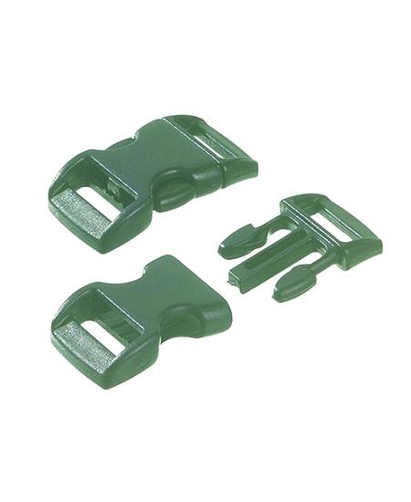 boucles plastiquesx5 à clip noir PM
