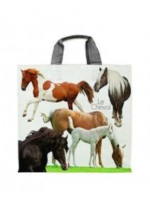sac cabas 43+20x38cm/33L chevaux