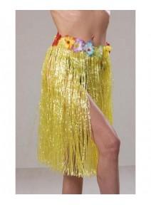 jupe hawaï jaune 60cm synthétique