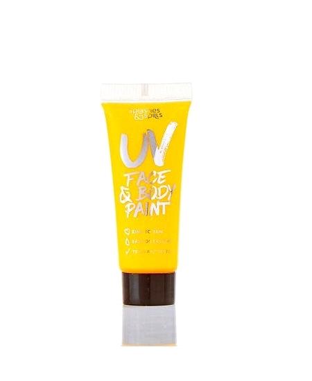 peinture corps visage jaune 10ml