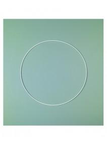anneau D6cm blanc en époxy