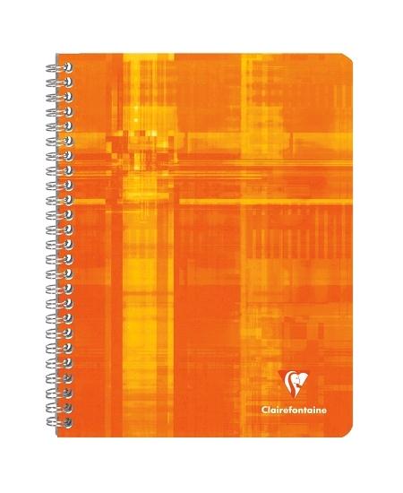 cahier 100pages/17x22cm orange