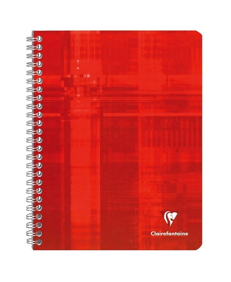 cahier 100pages/17x22cm rouge
