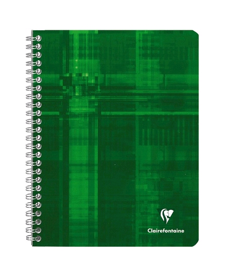 cahier 100pages/17x22cm vert