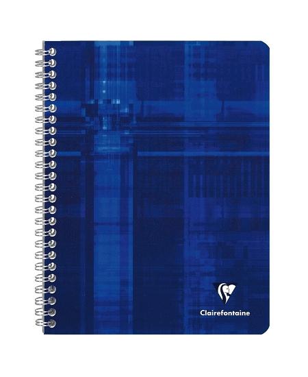 cahier 100pages/17x22cm bleu