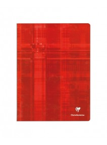 cahier 96pages/24x32cm rouge