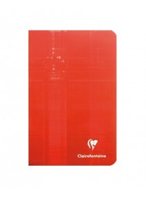 carnet 96pages/11x17cm rouge