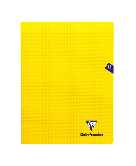 cahier 96pages/24x32cm jaune