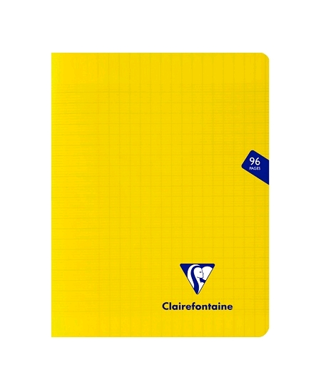 cahier 96pages/17x22cm jaune
