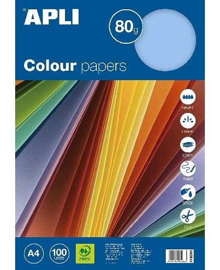 feuillesx100/80grs bleu pastel A4