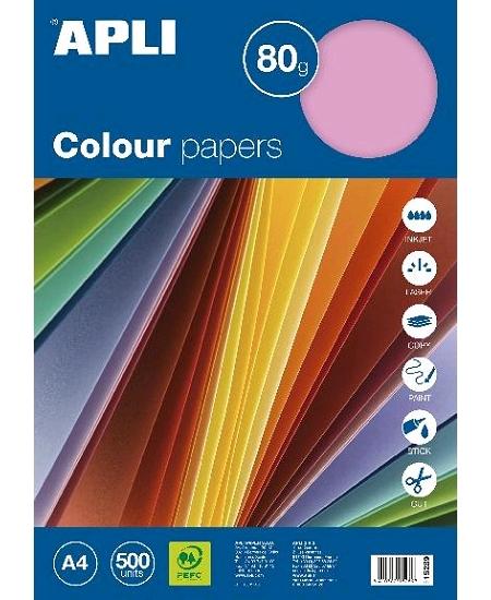 feuillesx500/80grs rose pastel A4