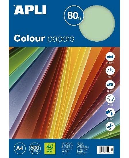 feuillesx500/80grs vert pastel A4