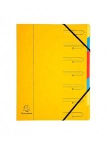 trieur jaune 7compartiments A4