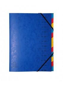 trieur bleu 12 compartiments A4