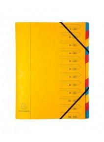 trieur jaune 12 compartiments A4