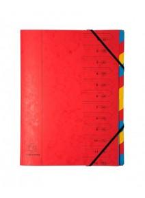 trieur rouge 12 compartiments A4