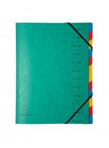 trieur vert 12 compartiments A4