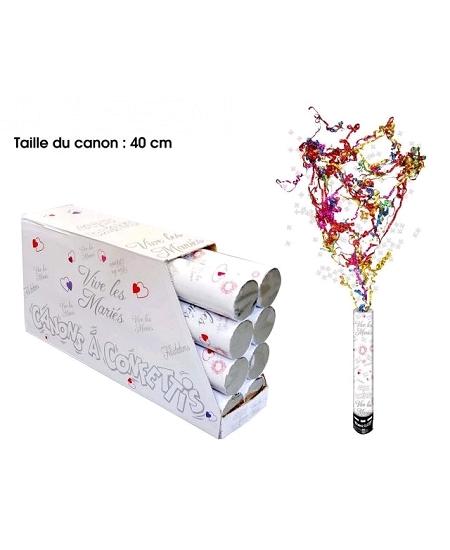 canon à confettis 40cm multicolore VLM