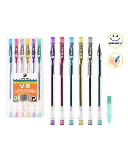 stylos pailletésx6 assortis