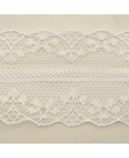 ruban 10M/4.2cm dentelle blanche