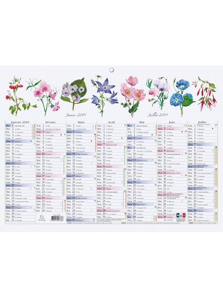 calendrier 2018/22x29.5cm fleurs
