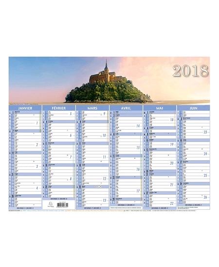 calendrier 2018/33.5x43cm PAYSAGE