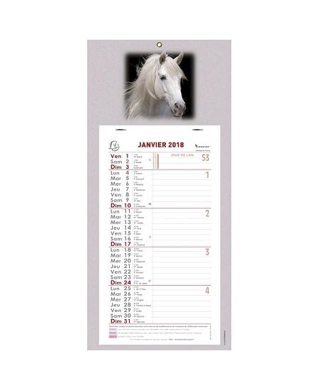 calendrier mensuel 2018 GM cheval