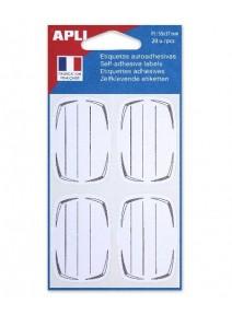 20 étiquettes scolaires 55x37mm