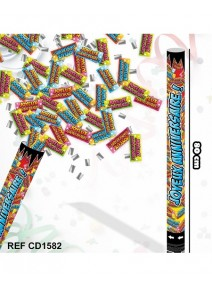 canon à confettis 79cm J. Anniversaire