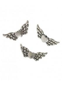 perles en ailesx10 métal