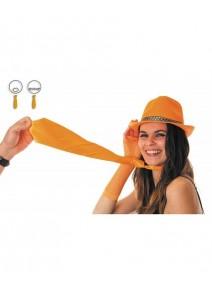 cravate orange fluo