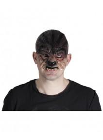 demi masque loup garou en latex adulte