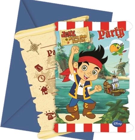 cartes d`invitationx6 pirate