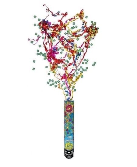 canon à confettis 40cm multicolore J.Ann