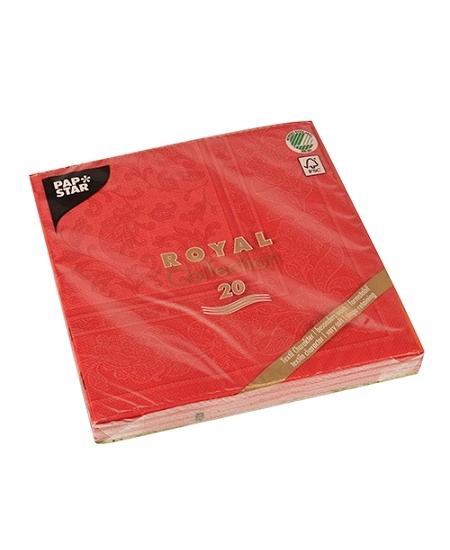 serviettesx20/40x40cm rouge arabesque VS