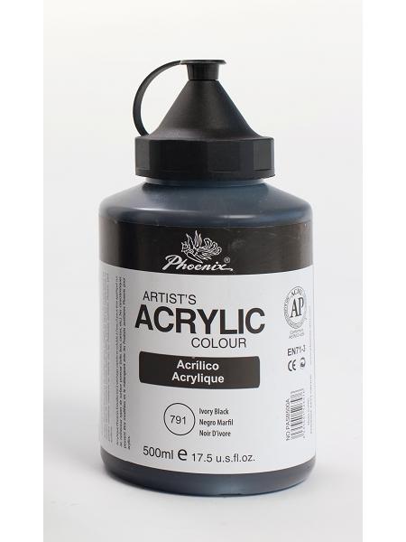 peinture acrylique noir 500ml