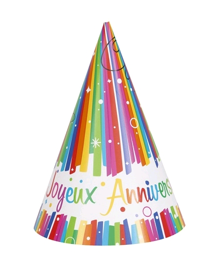 chapeaux x8 joyeux anniversaire