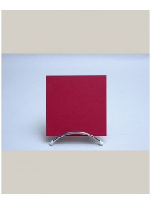 carte simplex25/135x135mm rouge groseille 210grs p