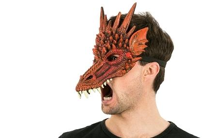 demi masque dragon rouge