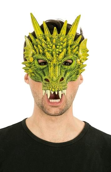 demi masque dragon vert