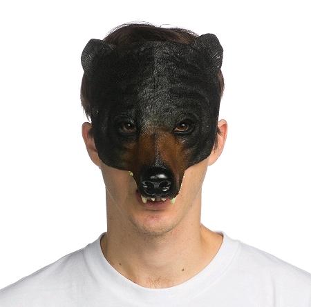 demi masque ours noir