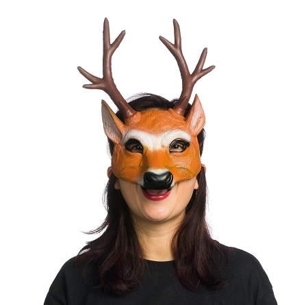 demi masque renne