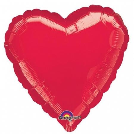 ballon coeur rouge 43cm alu