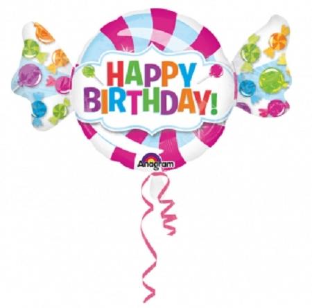 ballon happy birthday 101cmx60m alu