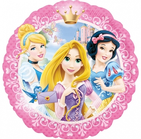ballon princesses D43cm alu