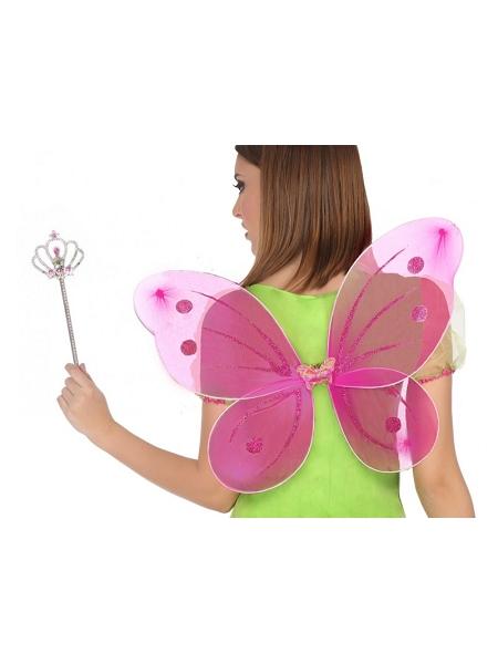 aile de papillon fuchsia + baguette